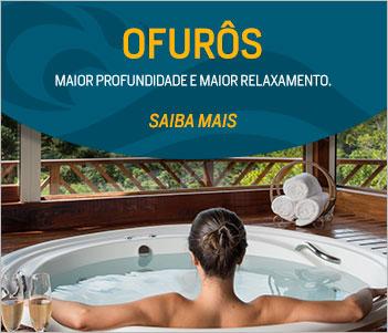 Ofurôs - Os Ofurôs são caracterizados por seu formato mais curto e profundo do que uma banheira tradicional. Proporcionam intenso relaxamento e são ideais para espaços pequenos.